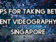 event videography singapore